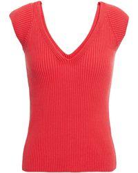 Mara Hoffman Celine Ribbed Organic Cotton Top - Red