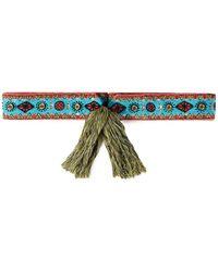 Etro Embellished Cotton-blend Belt - Multicolour