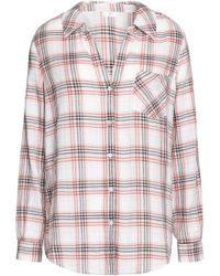Joie - Checked Cotton Top - Lyst
