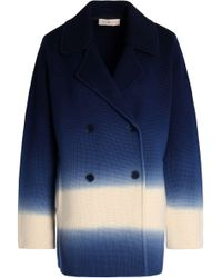 Tory Burch - Double-breasted Degradé Merino Wool Coat - Lyst