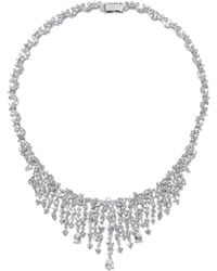 CZ by Kenneth Jay Lane - Necklaces Silver - Lyst