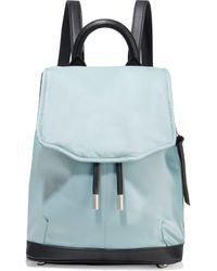 Rag & Bone Pilot Mini Leather-trimmed Shell Backpack Sky Blue