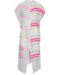 lemlem - Fringe-trimmed Striped Cotton-blend Gauze Coverup - Lyst
