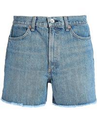 Rag & Bone Denim Shorts Mid Denim - Blue