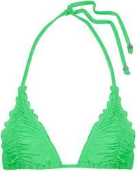 Seafolly - Ruched Triangle Bikini Top - Lyst