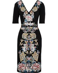 Catherine Deane - Embroidered Stretch-ponte Dress - Lyst
