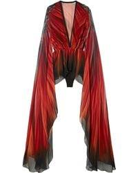 Elie Saab Long Sleeved Top Multicolour - Red