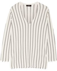 Theory - Haydren Striped Stretch-knit Jumper - Lyst