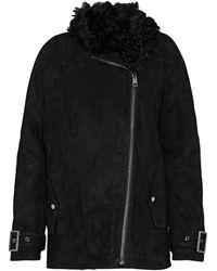 Iris & Ink Shearling Jacket - Black