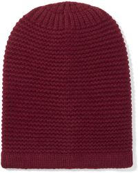 Iris & Ink - Ribbed Merino Wool And Cashmere-blend Beanie - Lyst