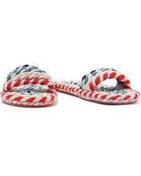 Loeffler Randall Elle Rope Slides - Multicolour