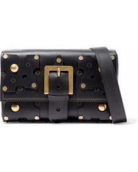 Valentino - Embellished Leather Shoulder Bag - Lyst
