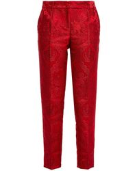 Dolce & Gabbana Satin-jacquard Tapered Trousers