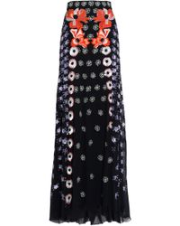 Temperley London - Sequin-embellished Embroiderd Silk-crepe Maxi Skirt - Lyst