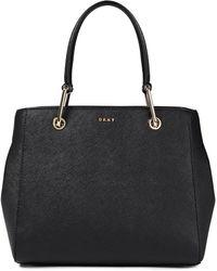 DKNY Julius Medium Textured-leather Tote - Black
