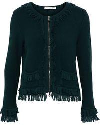 Autumn Cashmere - Fringe-trimmed Cotton Jacket - Lyst