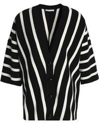 Chloé - Striped Cotton Cardigan - Lyst