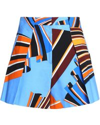 Emilio Pucci - Pleated Printed Cotton-blend Shorts - Lyst