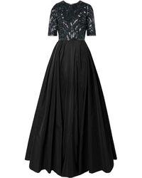 Naeem Khan Embellished Silk-tulle And Taffeta Gown - Black