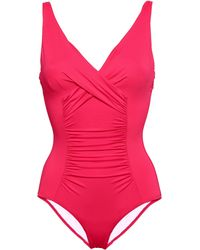 Jets by Jessika Allen Flora Ruched Underwired Swimsuit Bright Pink