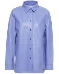 Stand Studio Leather Shirt - Blue