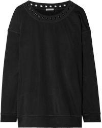 Tomas Maier Eyelet-embellished Jersey Sweatshirt Black