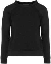 Kain - Hudson Matelassé Cotton-fleece Sweatshirt - Lyst