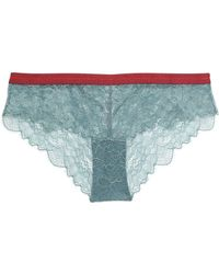 Love Stories - Dragonfly Lace Low-rise Briefs Grey Green - Lyst