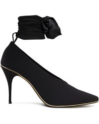 Zimmermann Stretch-jersey And Crepe De Chine Court Shoes Black