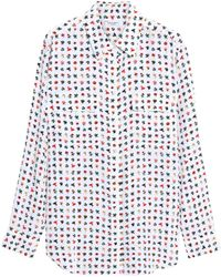 Equipment - Floral-print Silk Shirt - Lyst