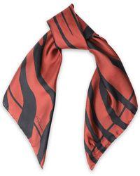 Roberto Cavalli - Zebra-print Silk-twill Scarf - Lyst