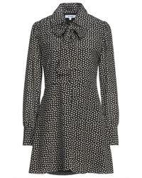 RE/DONE 70s Pussy-bow Polka-dot Silk Crepe De Chine Mini Dress - Black
