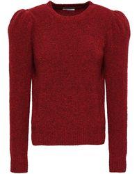 Co. Cashmere-blend Bouclé Sweater Crimson - Red