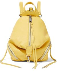 Rebecca Minkoff Julian Convertible Textured-leather Backpack Yellow