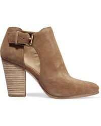 MICHAEL Michael Kors - Cutout Suede Ankle Boots - Lyst