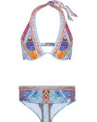 Camilla - Crystal-embellished Printed Bikini - Lyst