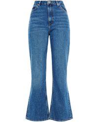 Sandro Rudolphe High-rise Flared Jeans Mid Denim - Blue