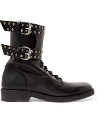 Isabel Marant - Buckled Studded Leather Ankle Boots - Lyst