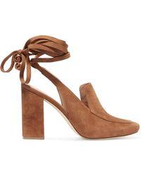 Sigerson Morrison | Posie Lace-up Suede Court Shoes | Lyst