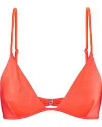 Melissa Odabash Bali Triangle Bikini Top Bright Orange Size 16