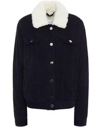 Gabriela Hearst Pascoal Faux Shearling-lined Cotton-corduroy Jacket Midnight Blue