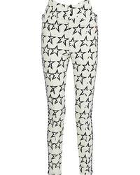 Perfect Moment Convertible Printed Shell Slim-leg Ski Trousers White