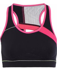 Sàpopa - Athena Mesh-paneled Cutout Stretch Sports Bra - Lyst