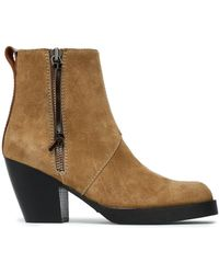 Acne Studios Pistol Suede Ankle Boots Sand - Natural