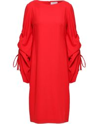 OSMAN Knee Length Dress Red