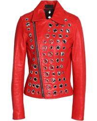 RTA - Embellished Leather Jacket - Lyst
