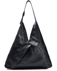 Iris & Ink Alvida Leather Shoulder Bag Black