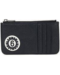 MM6 by Maison Martin Margiela Logo-appliquéd Faux Leather Wallet - Black