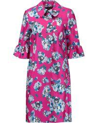 Diane von Furstenberg - Philippa Printed Wool And Silk-blend Coat - Lyst