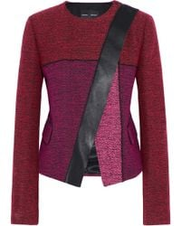 Proenza Schouler - Leather-trimmed Tweed Jacket - Lyst